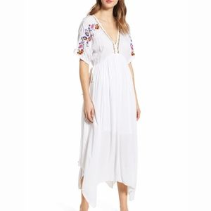 Band of Gypsies Cuba Embroidered Midi Dress Boho S